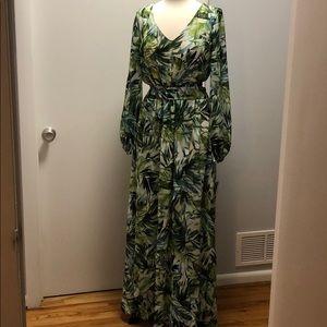 NWT Nine West Palm Leaf Vacation Dress